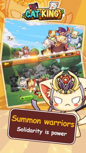 Скриншот для Cat King - Dog Wars: RPG Summoner Battles - 1