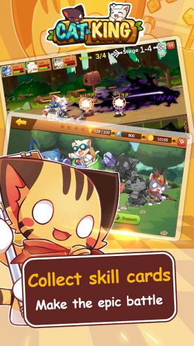 Скриншот для Cat King - Dog Wars: RPG Summoner Battles - 3