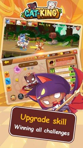 Скриншот для Cat King - Dog Wars: RPG Summoner Battles - 2