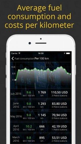 Скриншот для Контроль за автомобильными расходами - 3