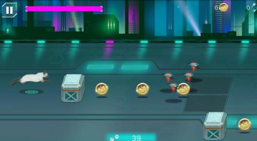 Скриншот для Cybercat: space runner - 2