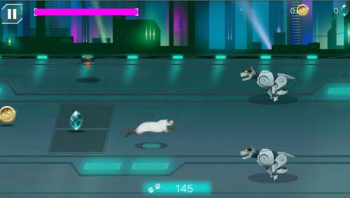 Скриншот для Cybercat: space runner - 3